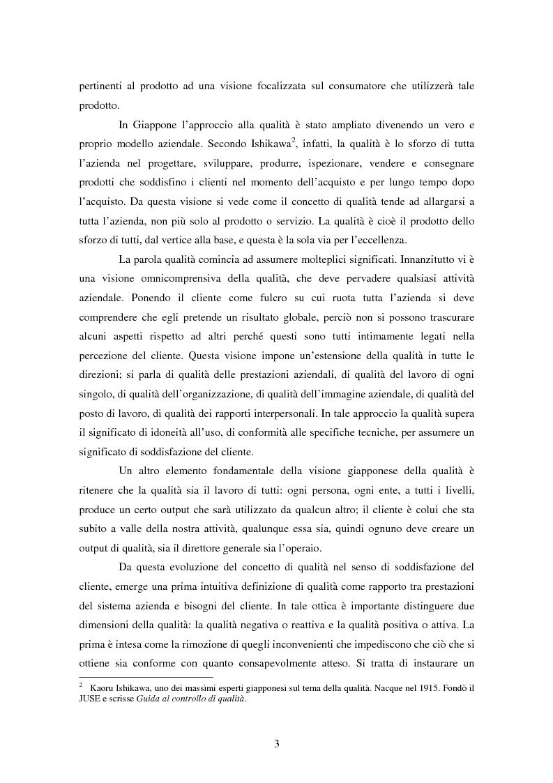 Anteprima della tesi: Certificazione del Sistema di Gestione per la Qualità: l'implementazione in Ferroli S.p.A., Pagina 6