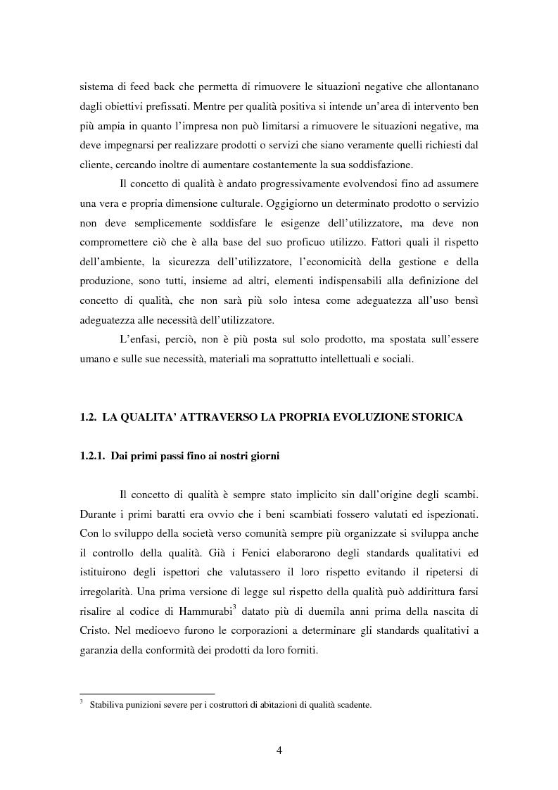 Anteprima della tesi: Certificazione del Sistema di Gestione per la Qualità: l'implementazione in Ferroli S.p.A., Pagina 7