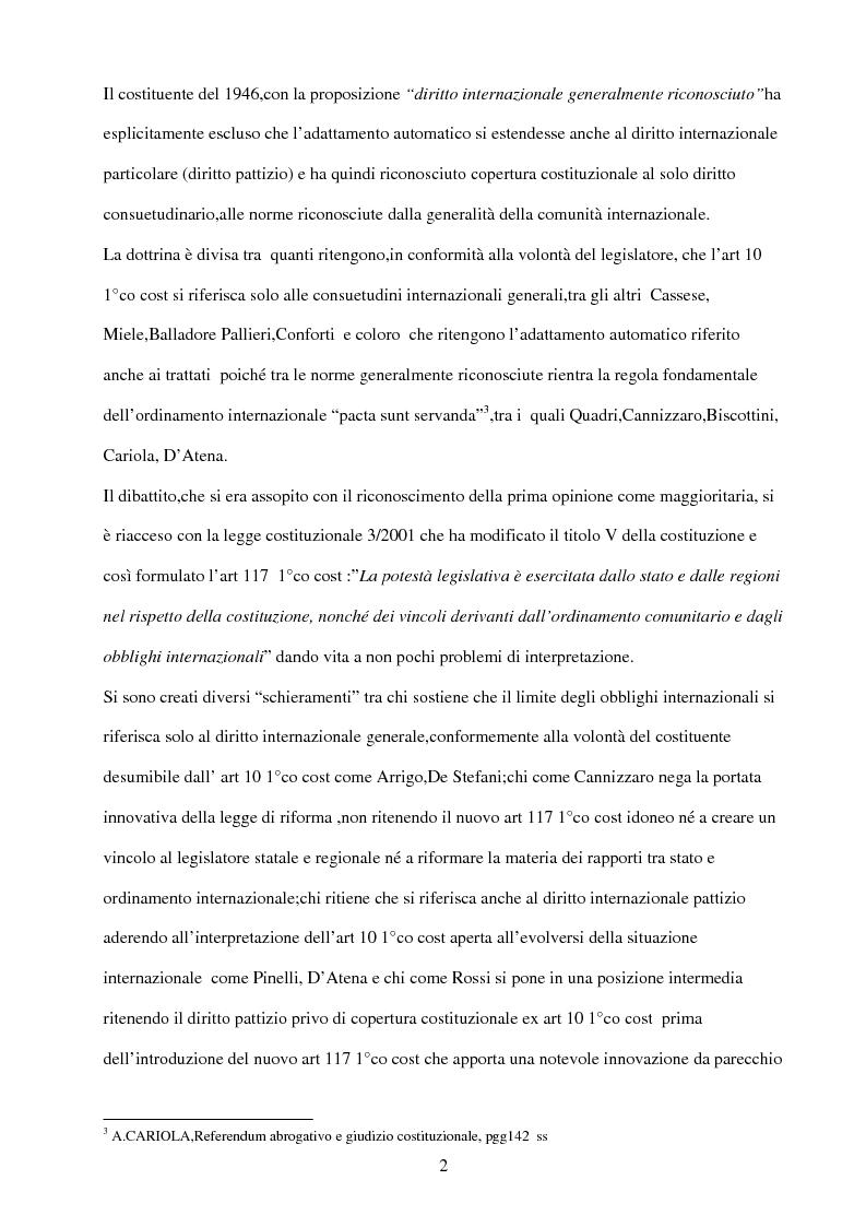 Anteprima della tesi: Il rispetto del diritto internazionale da parte del legislatore, Pagina 2