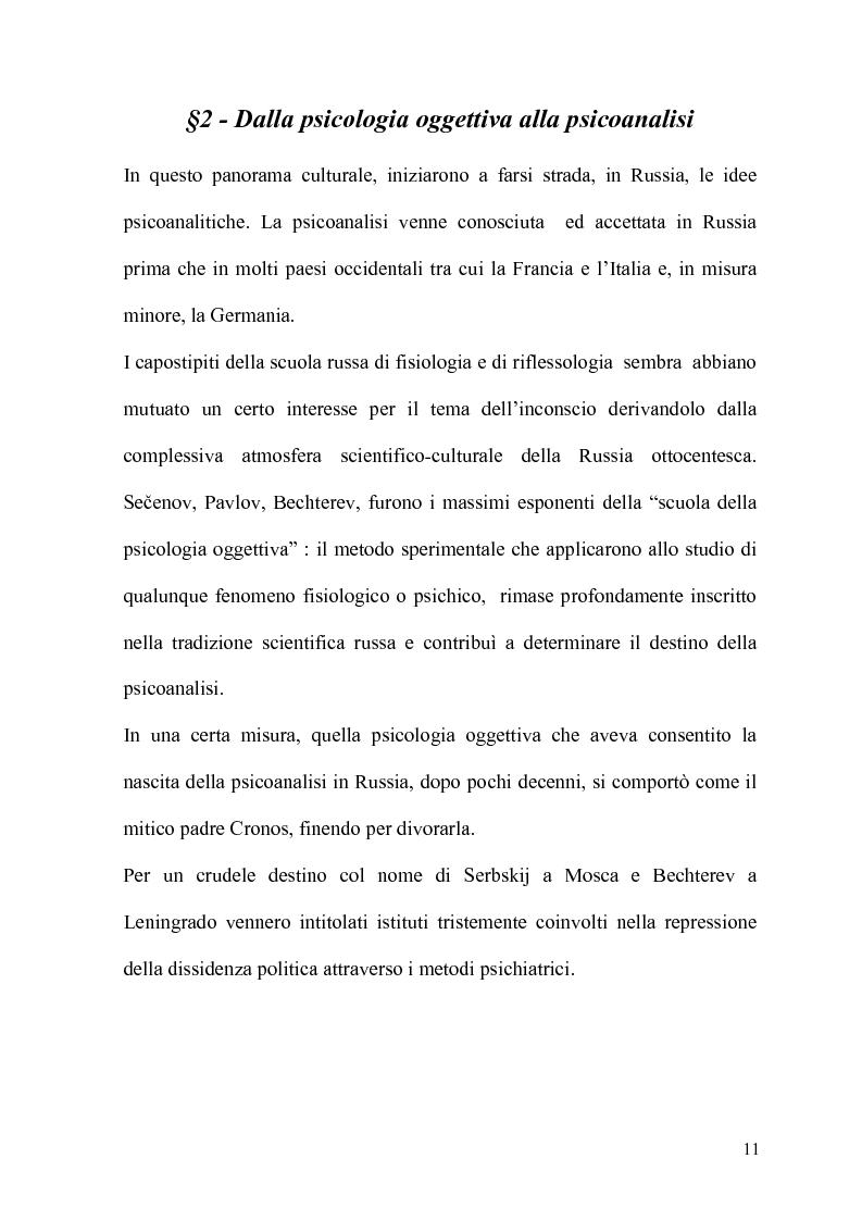Anteprima della tesi: La Psicoanalisi in Russia: nascita, sviluppo e oblio, Pagina 10