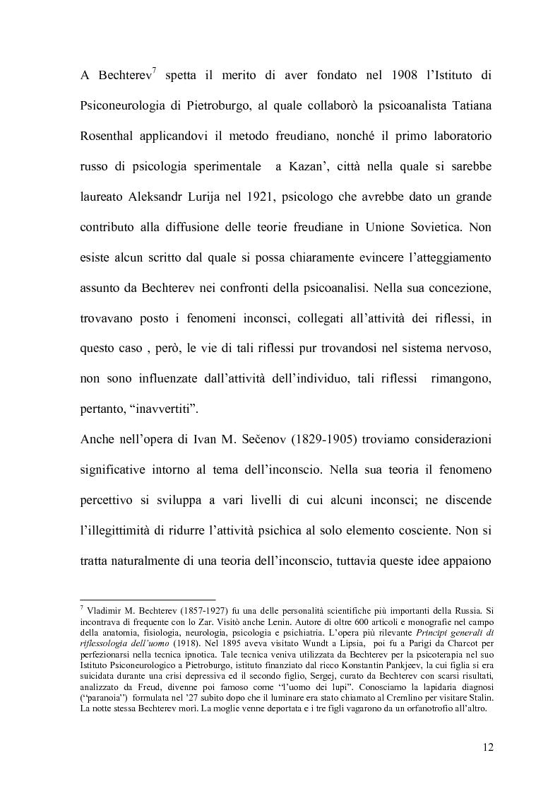 Anteprima della tesi: La Psicoanalisi in Russia: nascita, sviluppo e oblio, Pagina 11