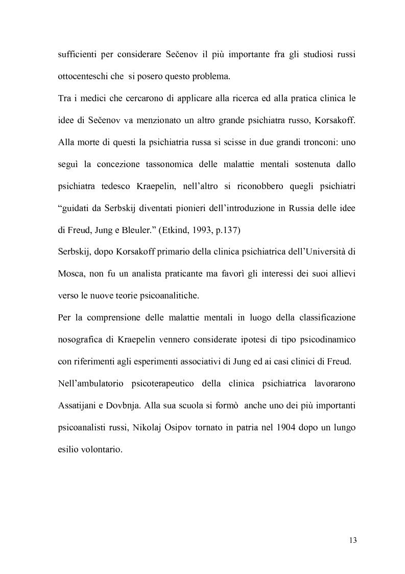 Anteprima della tesi: La Psicoanalisi in Russia: nascita, sviluppo e oblio, Pagina 12