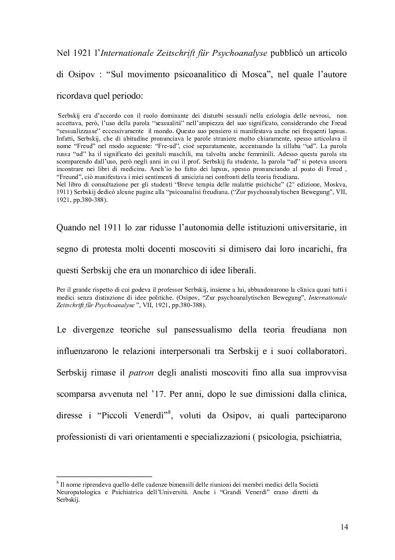 Anteprima della tesi: La Psicoanalisi in Russia: nascita, sviluppo e oblio, Pagina 13