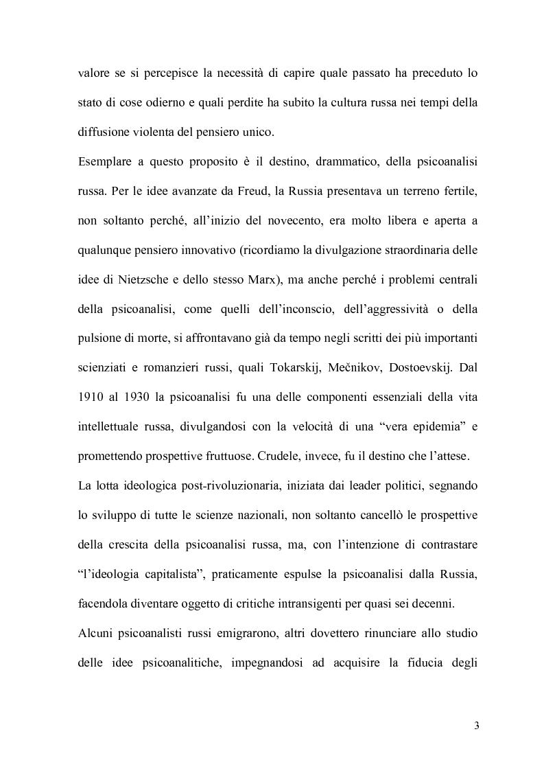 Anteprima della tesi: La Psicoanalisi in Russia: nascita, sviluppo e oblio, Pagina 2