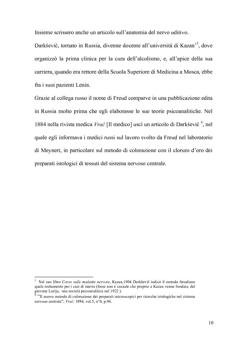Anteprima della tesi: La Psicoanalisi in Russia: nascita, sviluppo e oblio, Pagina 9