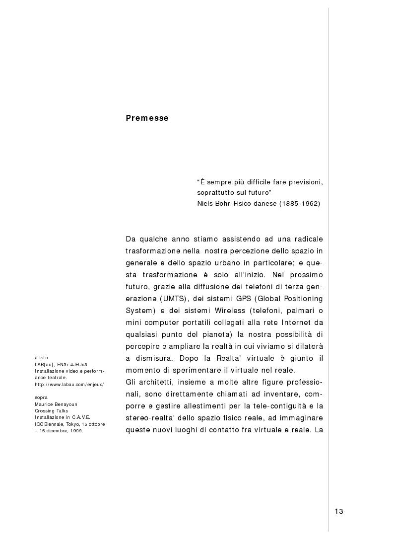 Anteprima della tesi: Verso l'hyper-città. Nuove spazialità urbane nell'era della multimedialità, Pagina 1