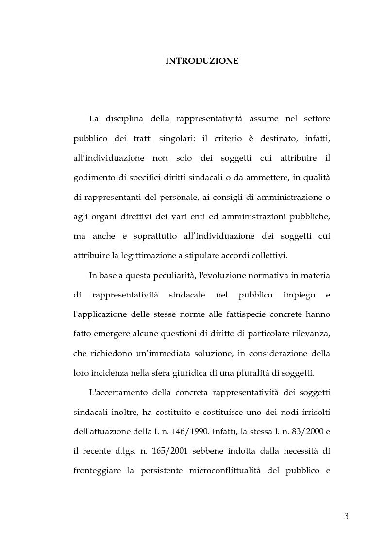 Anteprima della tesi: Le Rappresentanze Sindacali Unitarie nella Pubblica Amministrazione, Pagina 1