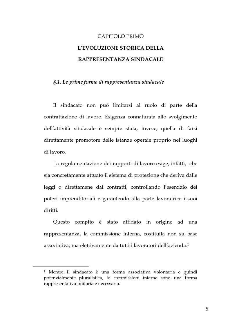Anteprima della tesi: Le Rappresentanze Sindacali Unitarie nella Pubblica Amministrazione, Pagina 3