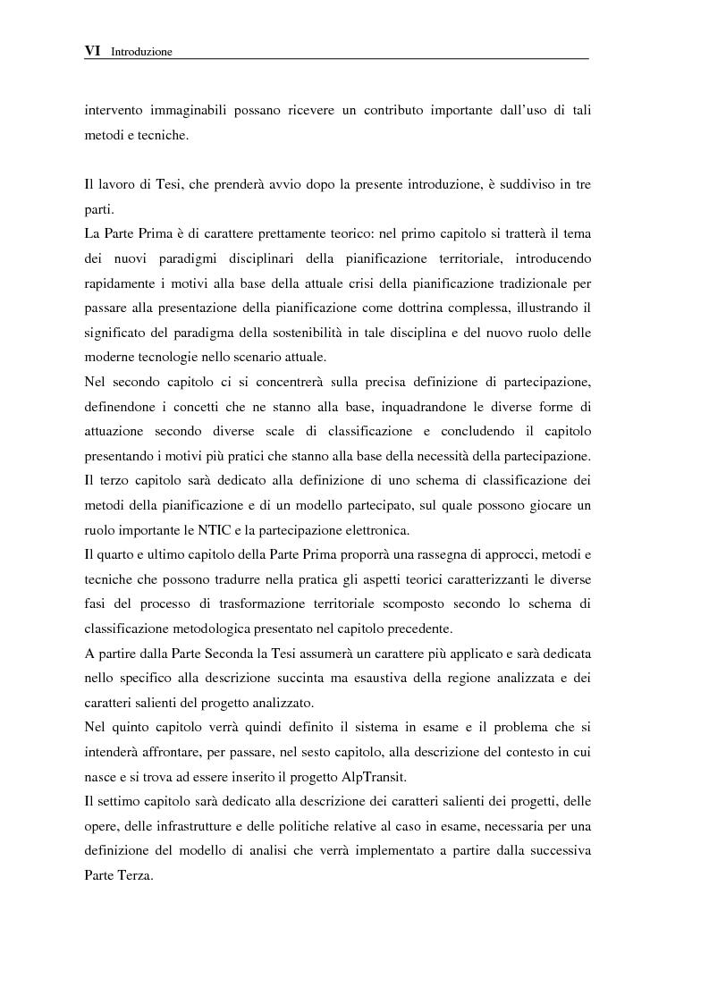 Anteprima della tesi: Le NTIC nella pianificazione partecipata. Applicazione di un metodo di Foresight alla pianificazione: progetto AlpTransit e regione insubrica., Pagina 5