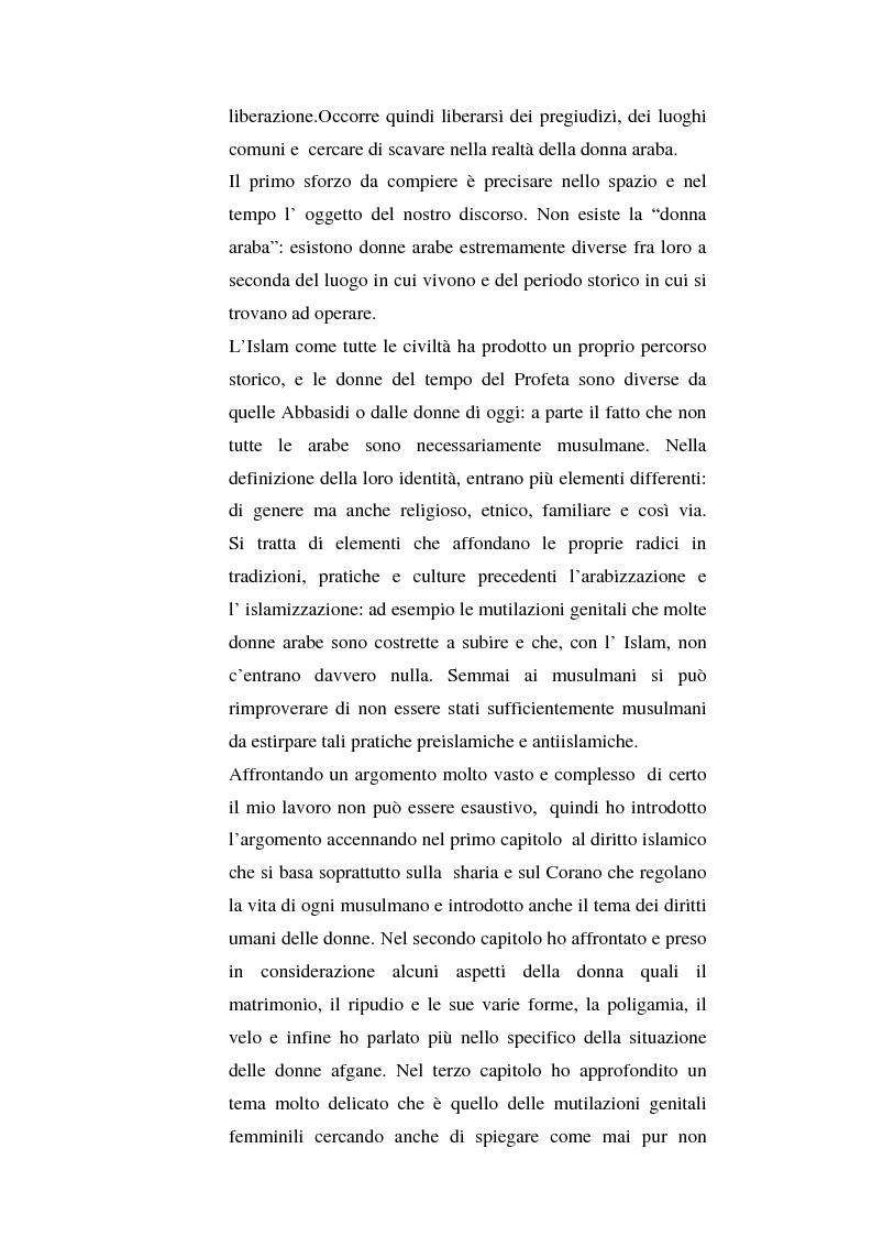 Anteprima della tesi: I diritti delle donne islamiche, Pagina 4