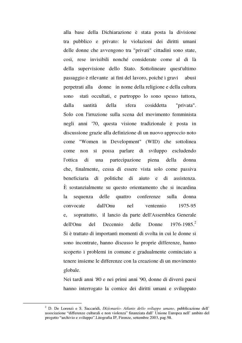 Anteprima della tesi: I diritti delle donne islamiche, Pagina 7