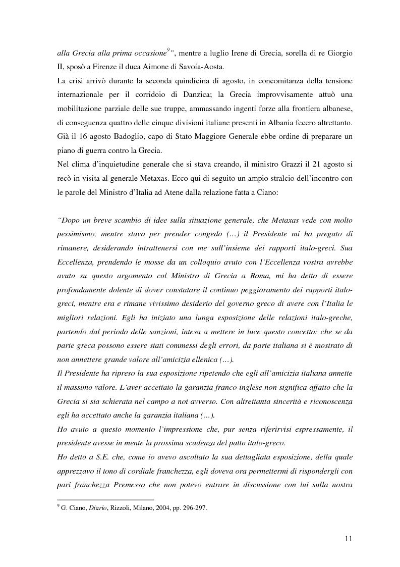 Anteprima della tesi: Soldati, generali e gerarchi nella campagna di Grecia. Aspetti e tematiche di una guerra vista da prospettive differenti, Pagina 10