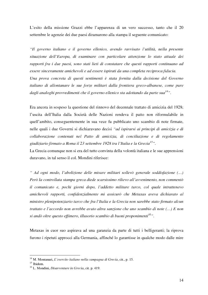 Anteprima della tesi: Soldati, generali e gerarchi nella campagna di Grecia. Aspetti e tematiche di una guerra vista da prospettive differenti, Pagina 13