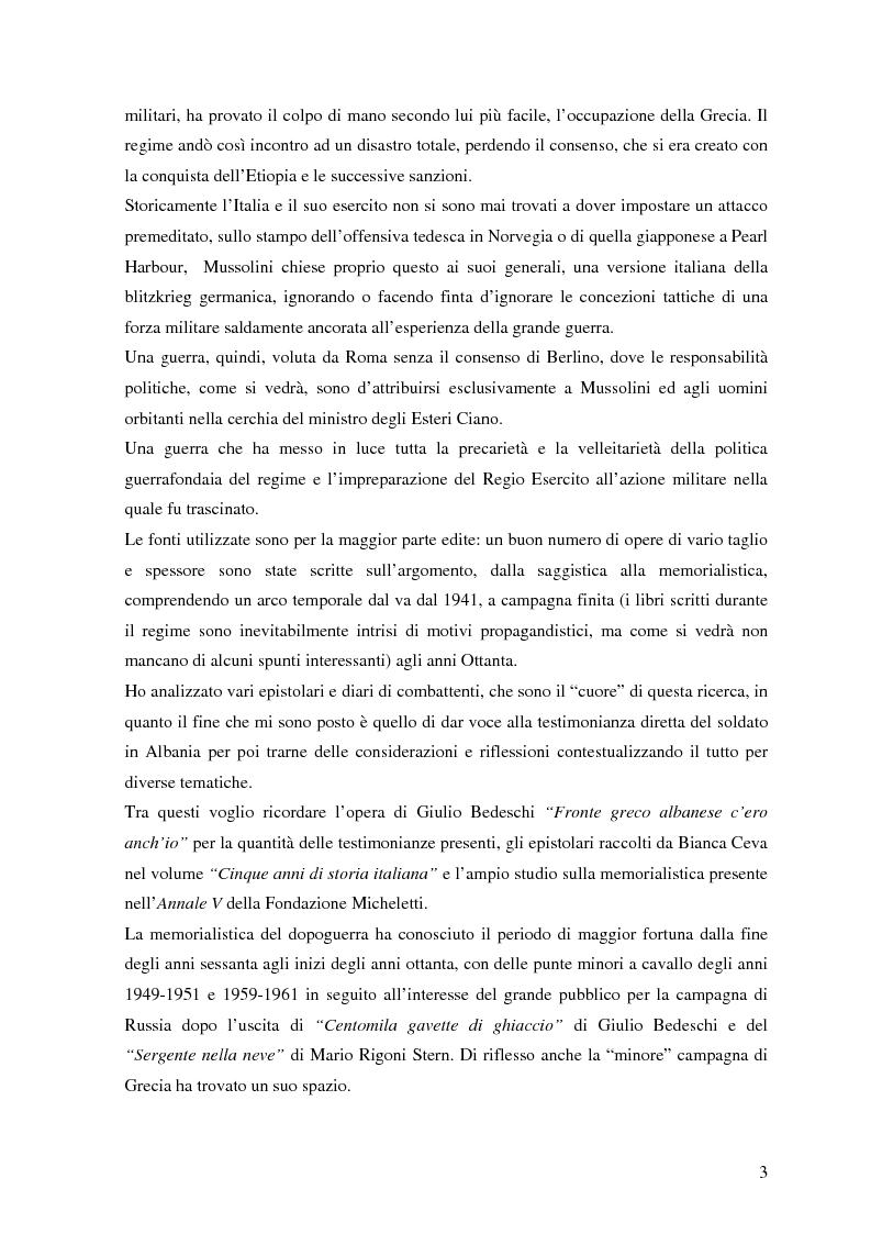 Anteprima della tesi: Soldati, generali e gerarchi nella campagna di Grecia. Aspetti e tematiche di una guerra vista da prospettive differenti, Pagina 2