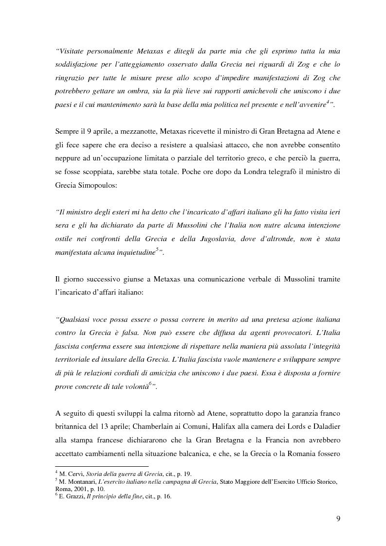 Anteprima della tesi: Soldati, generali e gerarchi nella campagna di Grecia. Aspetti e tematiche di una guerra vista da prospettive differenti, Pagina 8