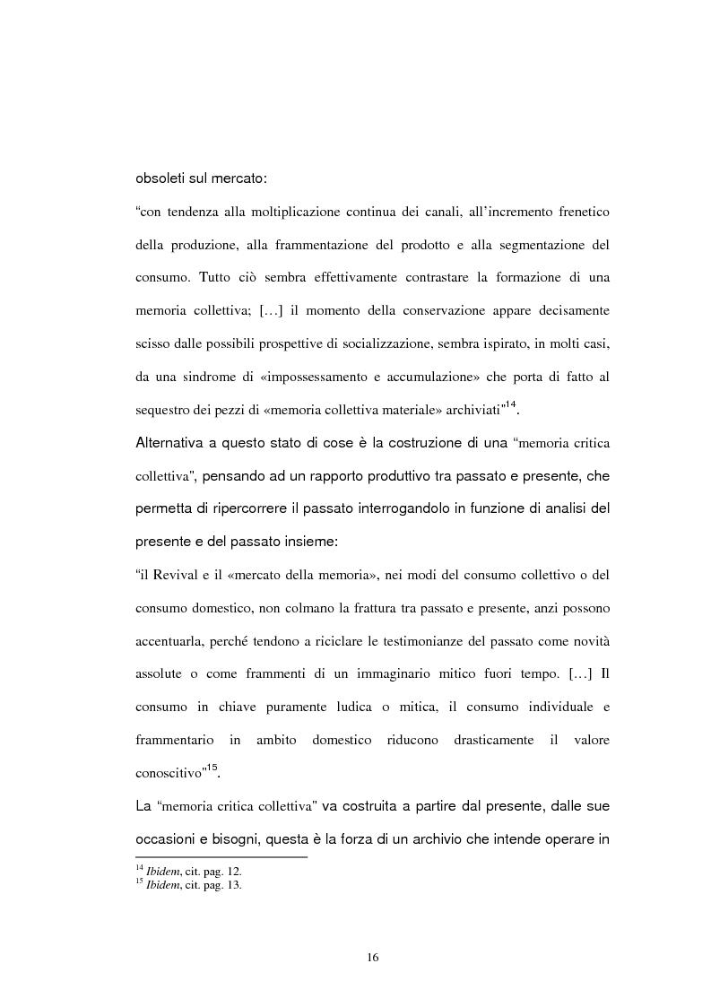Anteprima della tesi: Archivio audiovisivo del movimento operaio e democratico: vent'anni di produzioni, Pagina 12