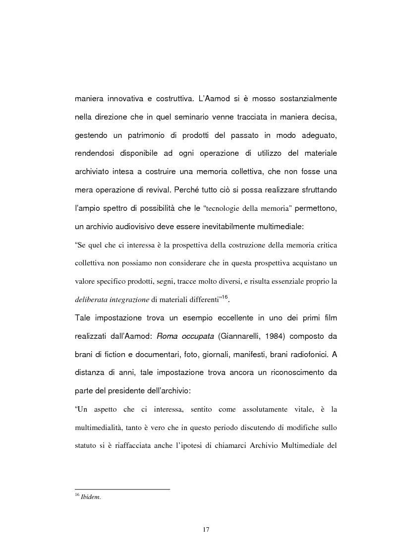 Anteprima della tesi: Archivio audiovisivo del movimento operaio e democratico: vent'anni di produzioni, Pagina 13