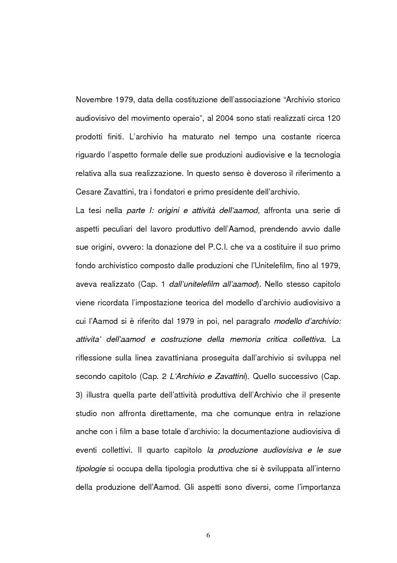 Anteprima della tesi: Archivio audiovisivo del movimento operaio e democratico: vent'anni di produzioni, Pagina 2