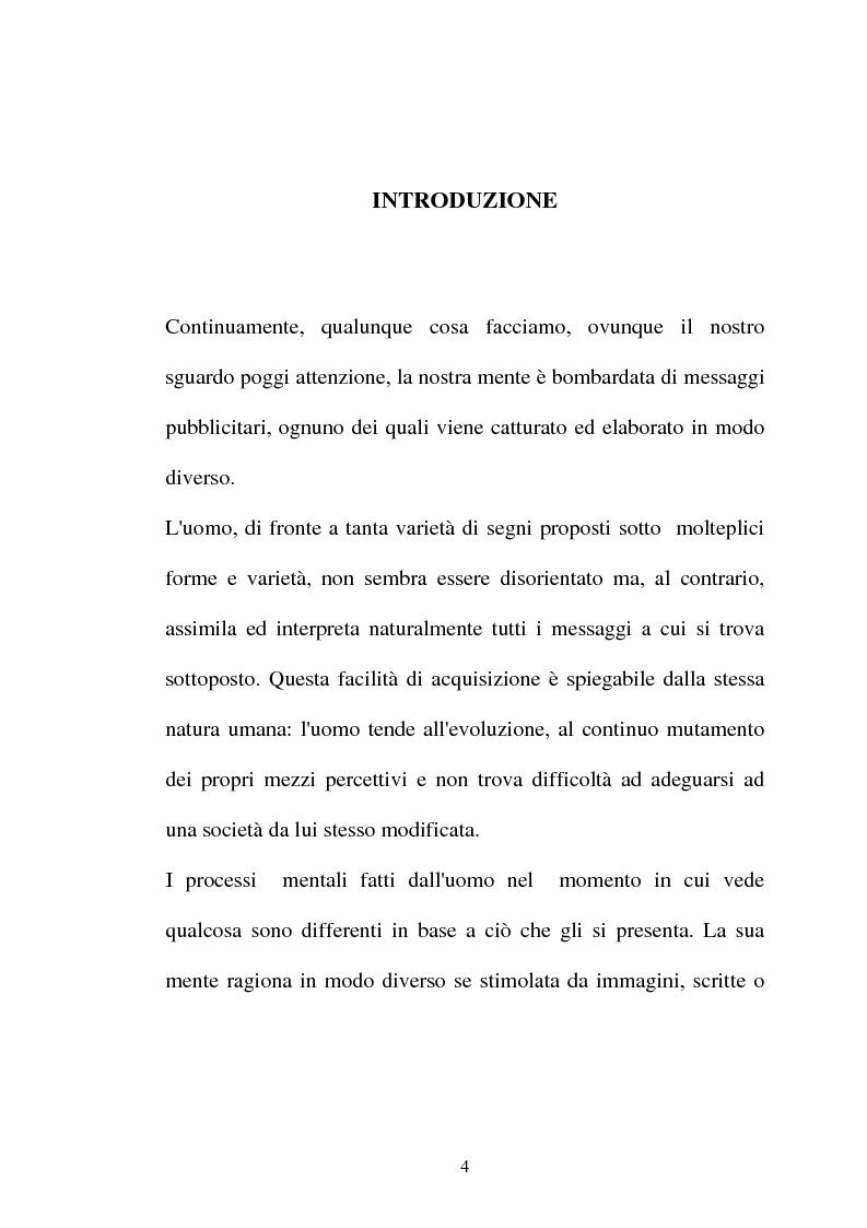 Anteprima della tesi: Pubblicità tra oralità e scrittura - Dall'immagine allo scritto fino a giungere all'immagine - Il caso Dolce e Gabbana, Pagina 1