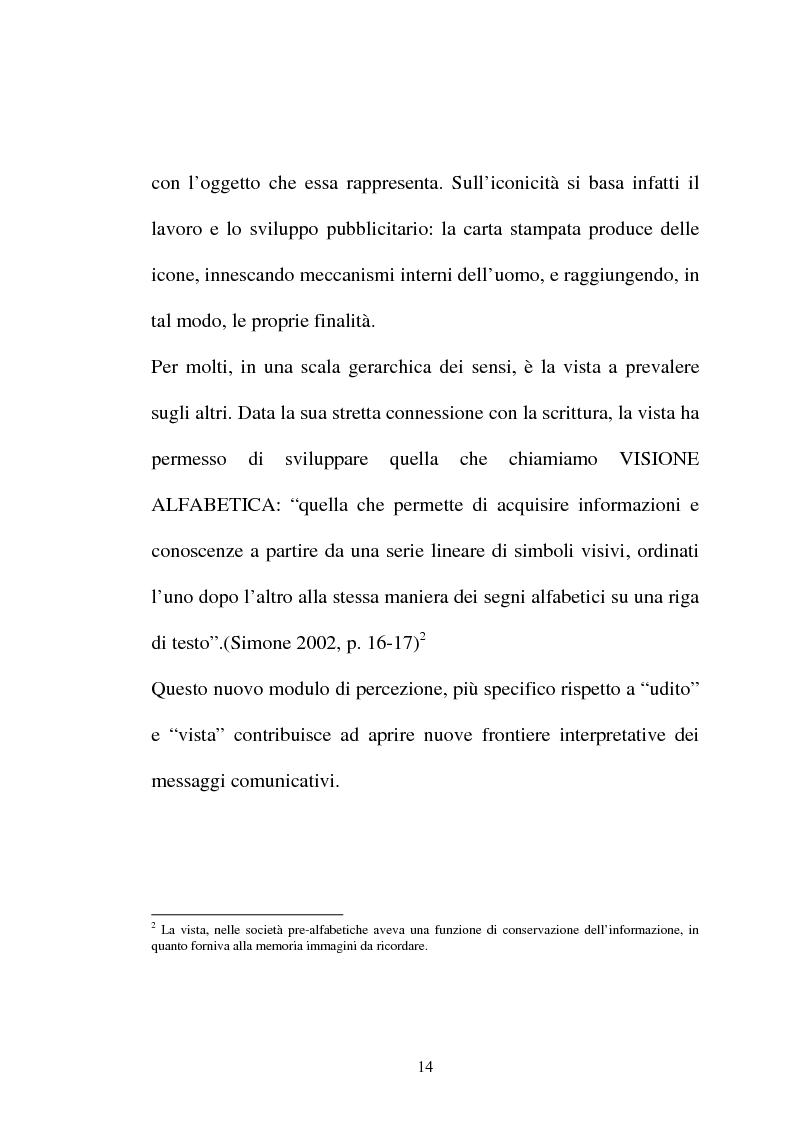 Anteprima della tesi: Pubblicità tra oralità e scrittura - Dall'immagine allo scritto fino a giungere all'immagine - Il caso Dolce e Gabbana, Pagina 11