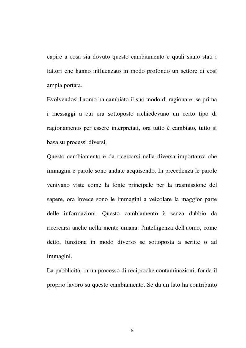 Anteprima della tesi: Pubblicità tra oralità e scrittura - Dall'immagine allo scritto fino a giungere all'immagine - Il caso Dolce e Gabbana, Pagina 3