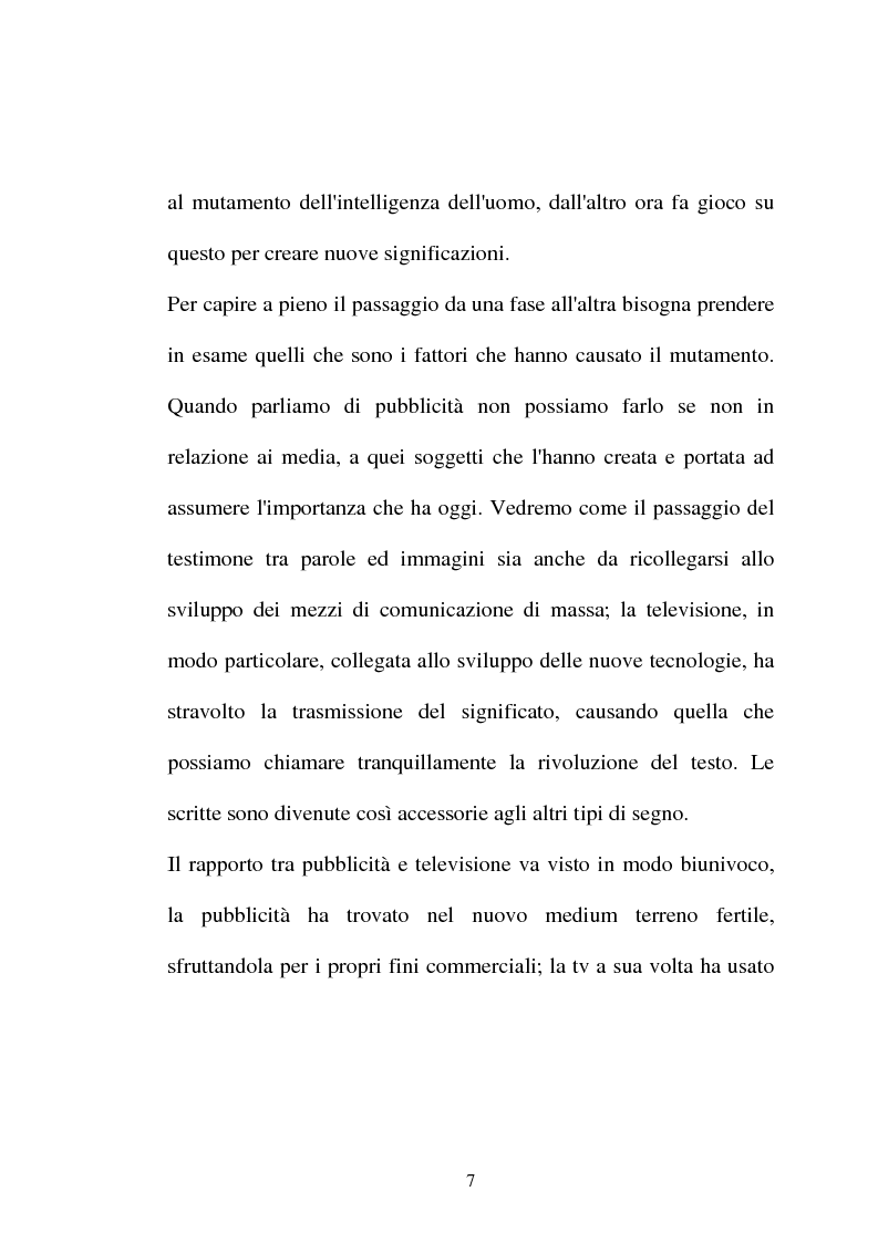 Anteprima della tesi: Pubblicità tra oralità e scrittura - Dall'immagine allo scritto fino a giungere all'immagine - Il caso Dolce e Gabbana, Pagina 4