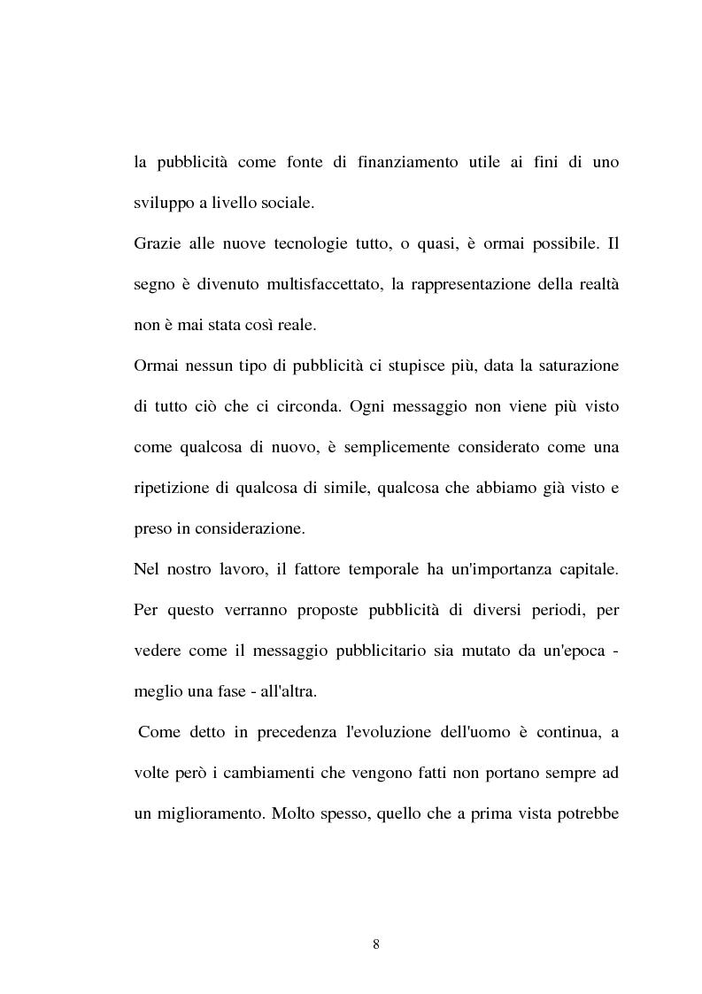 Anteprima della tesi: Pubblicità tra oralità e scrittura - Dall'immagine allo scritto fino a giungere all'immagine - Il caso Dolce e Gabbana, Pagina 5