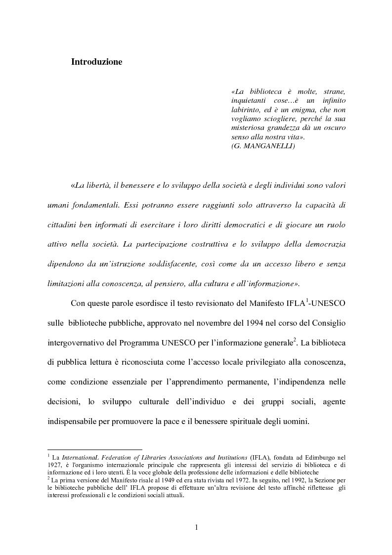 Anteprima della tesi: Le biblioteche scolastiche multimediali, Pagina 1