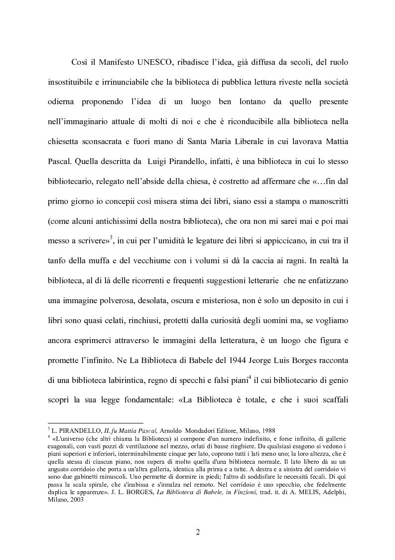 Anteprima della tesi: Le biblioteche scolastiche multimediali, Pagina 2