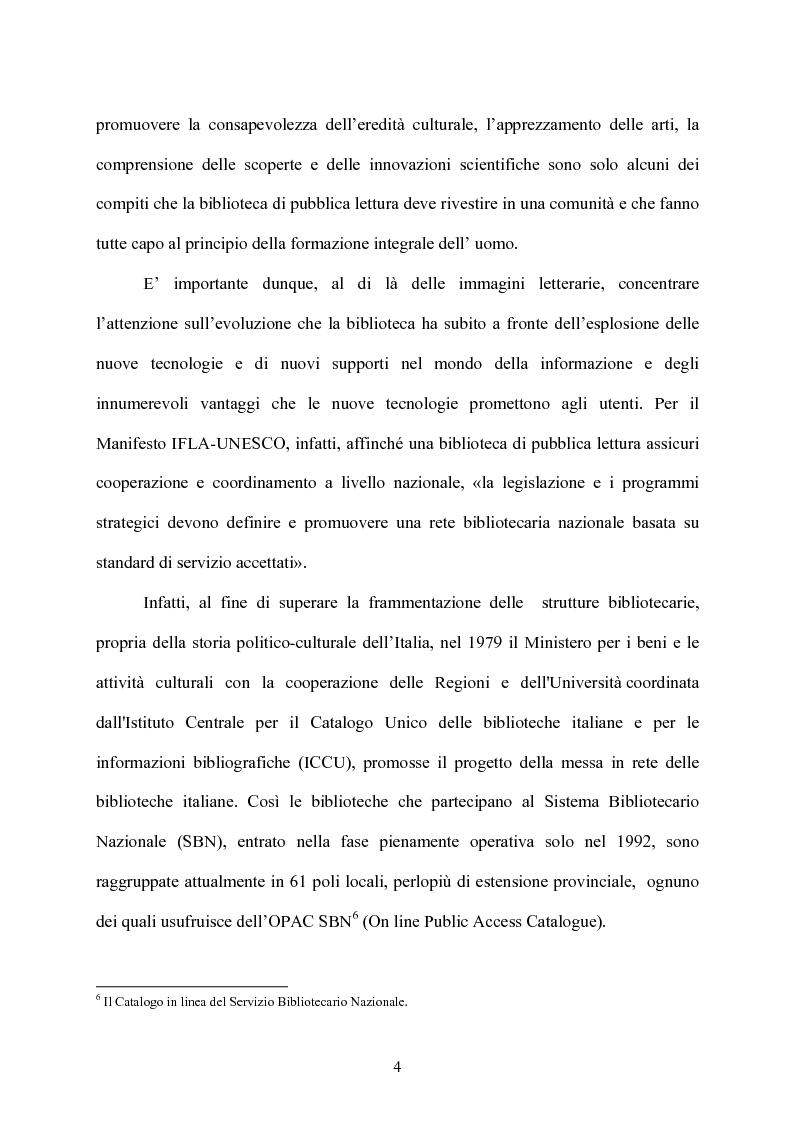 Anteprima della tesi: Le biblioteche scolastiche multimediali, Pagina 4