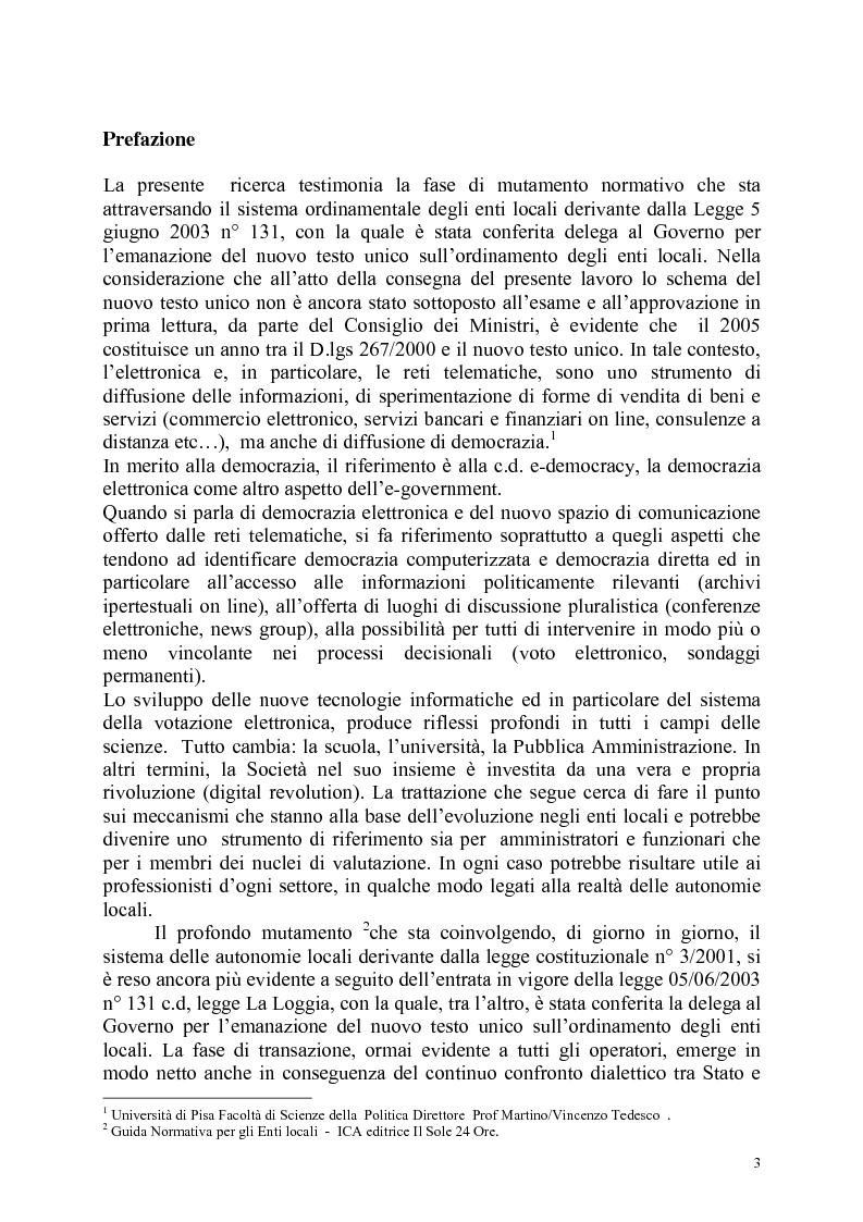 Anteprima della tesi: Innovazione e Qualità negli enti locali, Pagina 1