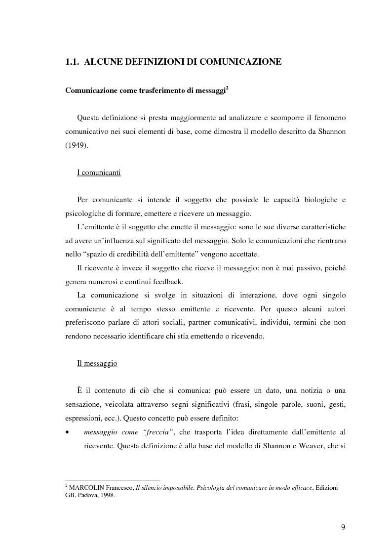 Anteprima della tesi: Il ruolo della comunicazione non verbale nel processo di selezione del personale. Il caso delle agenzie di lavoro interinale., Pagina 3