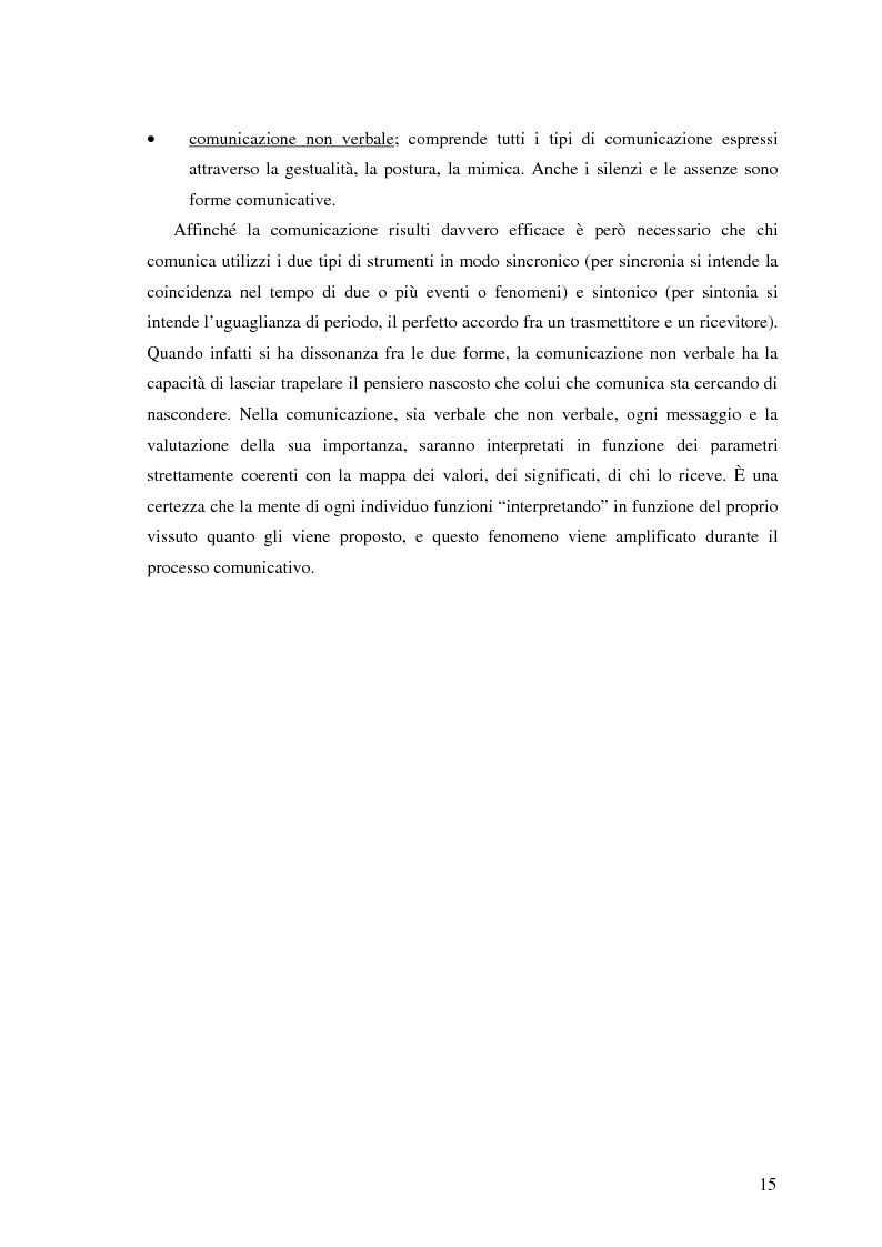 Anteprima della tesi: Il ruolo della comunicazione non verbale nel processo di selezione del personale. Il caso delle agenzie di lavoro interinale., Pagina 9
