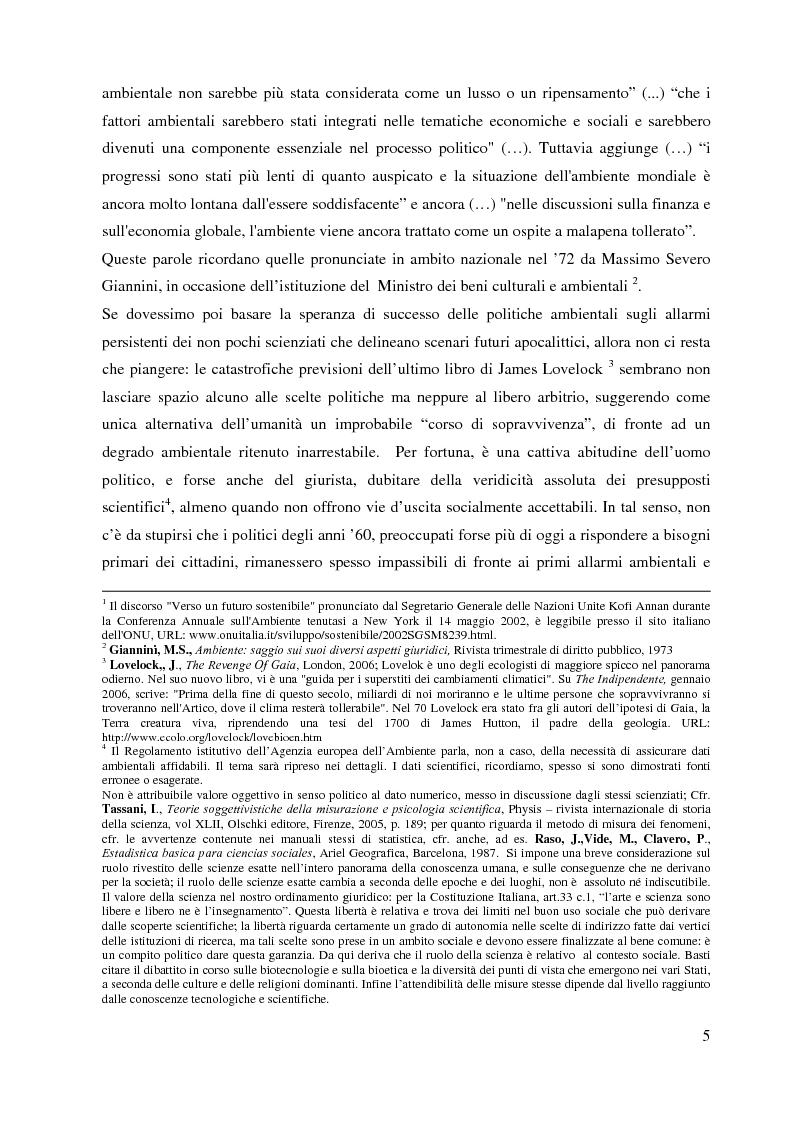 Anteprima della tesi: L'Agenzia Europea dell'Ambiente e il diritto ambientale comunitario, Pagina 5