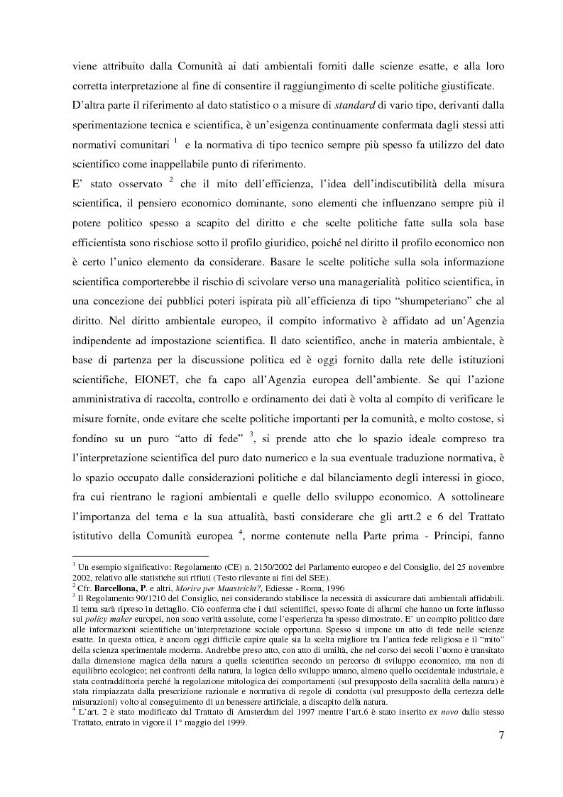 Anteprima della tesi: L'Agenzia Europea dell'Ambiente e il diritto ambientale comunitario, Pagina 7