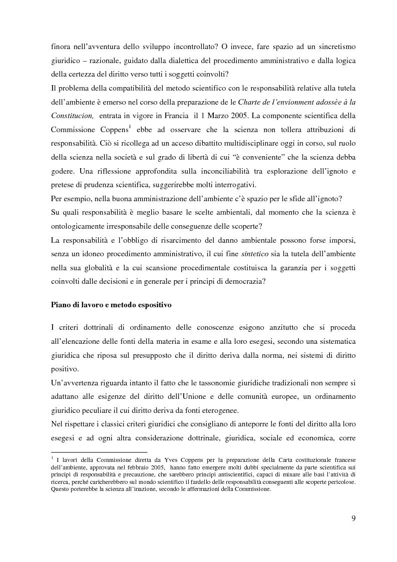 Anteprima della tesi: L'Agenzia Europea dell'Ambiente e il diritto ambientale comunitario, Pagina 9