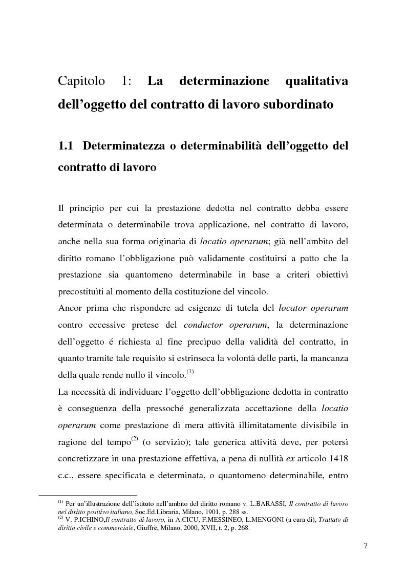 Anteprima della tesi: Il demansionamento nel rapporto di lavoro subordinato, Pagina 5