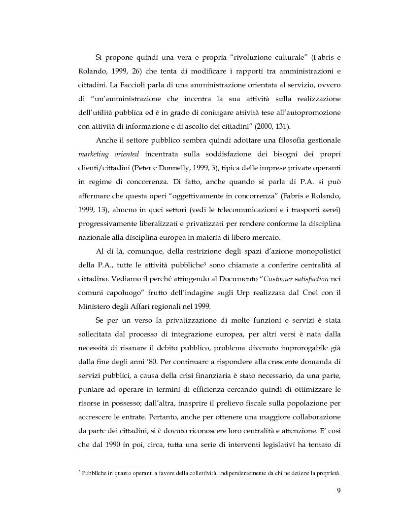Anteprima della tesi: La Customer Satisfaction nella PA: problemi di fedeltà dei dati raccolti tramite questionario, Pagina 4