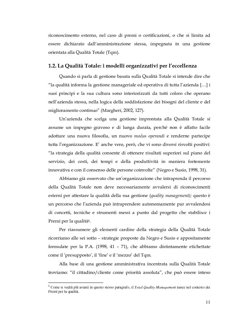Anteprima della tesi: La Customer Satisfaction nella PA: problemi di fedeltà dei dati raccolti tramite questionario, Pagina 6