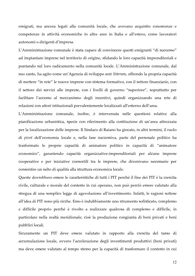 """Anteprima della tesi: La programmazione dei Fondi strutturali 2000 - 2006: I """"Progetti Integrati Territoriali"""", Pagina 12"""