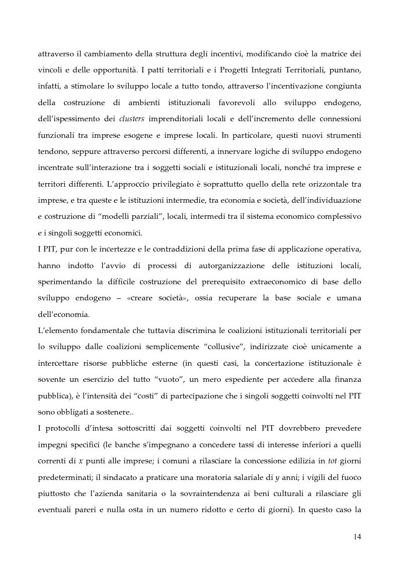 """Anteprima della tesi: La programmazione dei Fondi strutturali 2000 - 2006: I """"Progetti Integrati Territoriali"""", Pagina 14"""