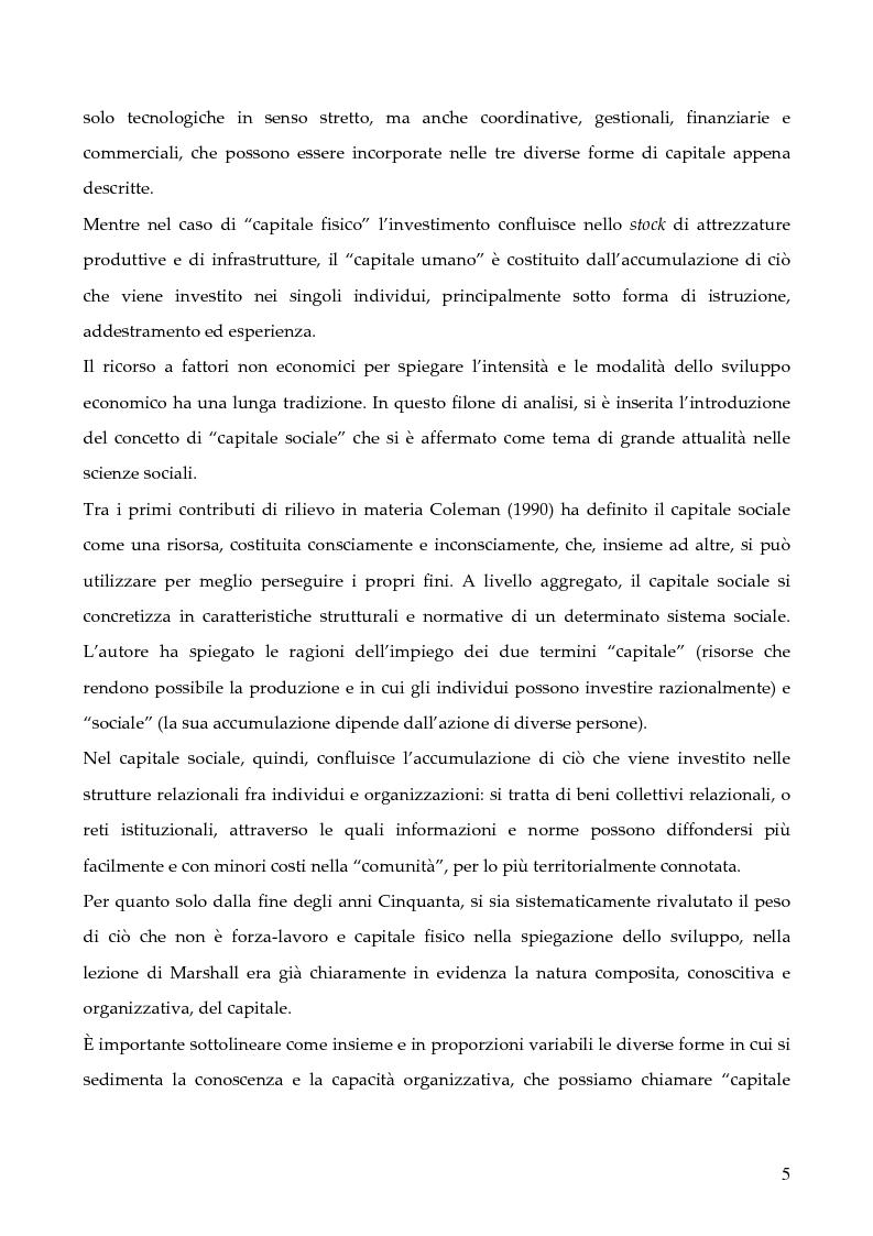 """Anteprima della tesi: La programmazione dei Fondi strutturali 2000 - 2006: I """"Progetti Integrati Territoriali"""", Pagina 5"""