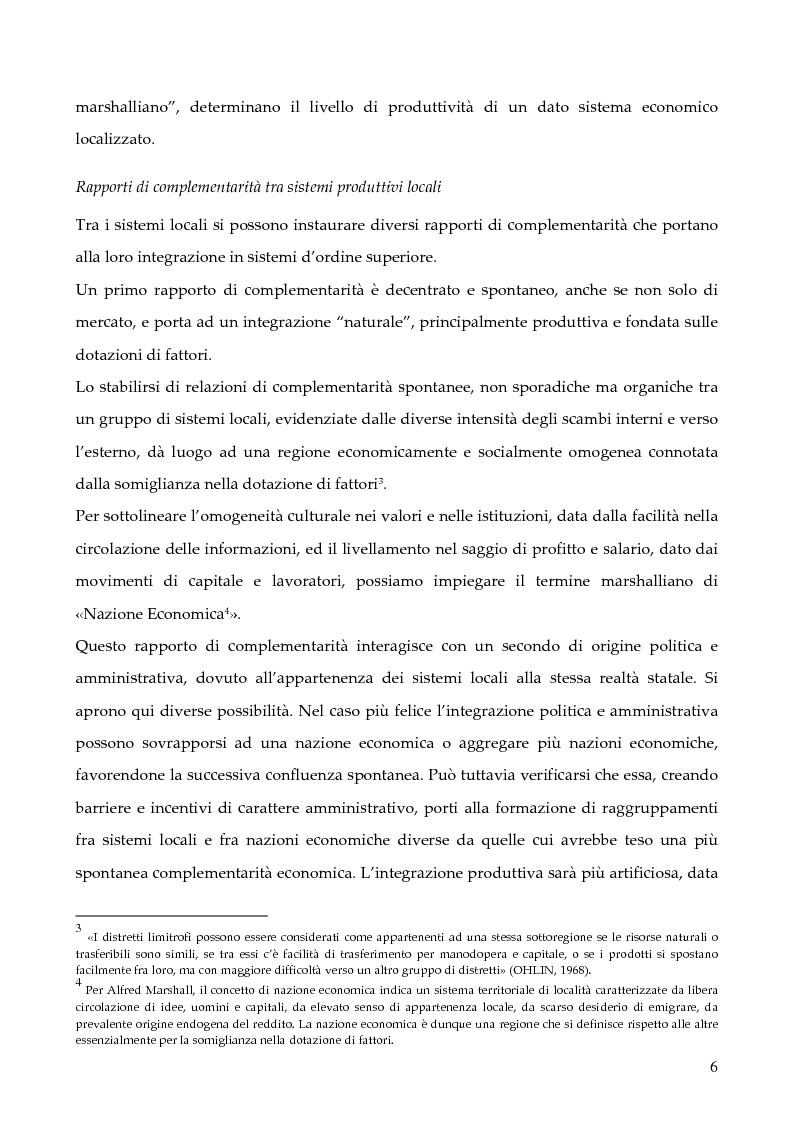 """Anteprima della tesi: La programmazione dei Fondi strutturali 2000 - 2006: I """"Progetti Integrati Territoriali"""", Pagina 6"""
