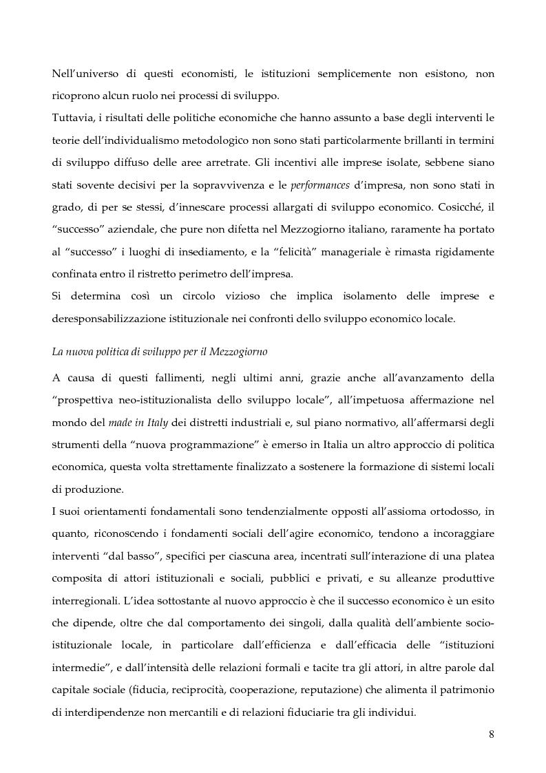 """Anteprima della tesi: La programmazione dei Fondi strutturali 2000 - 2006: I """"Progetti Integrati Territoriali"""", Pagina 8"""