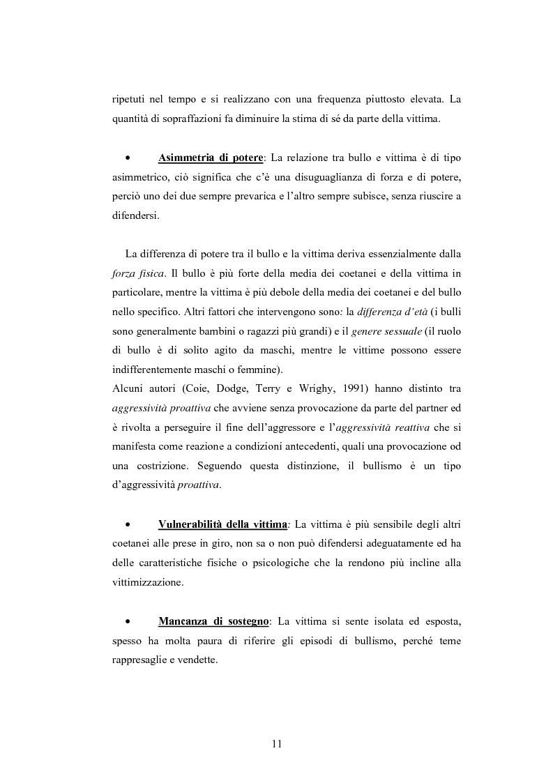 Anteprima della tesi: Bulli e vittime tra i banchi di scuola: profili, diffusione e metodologie d'intervento, Pagina 10