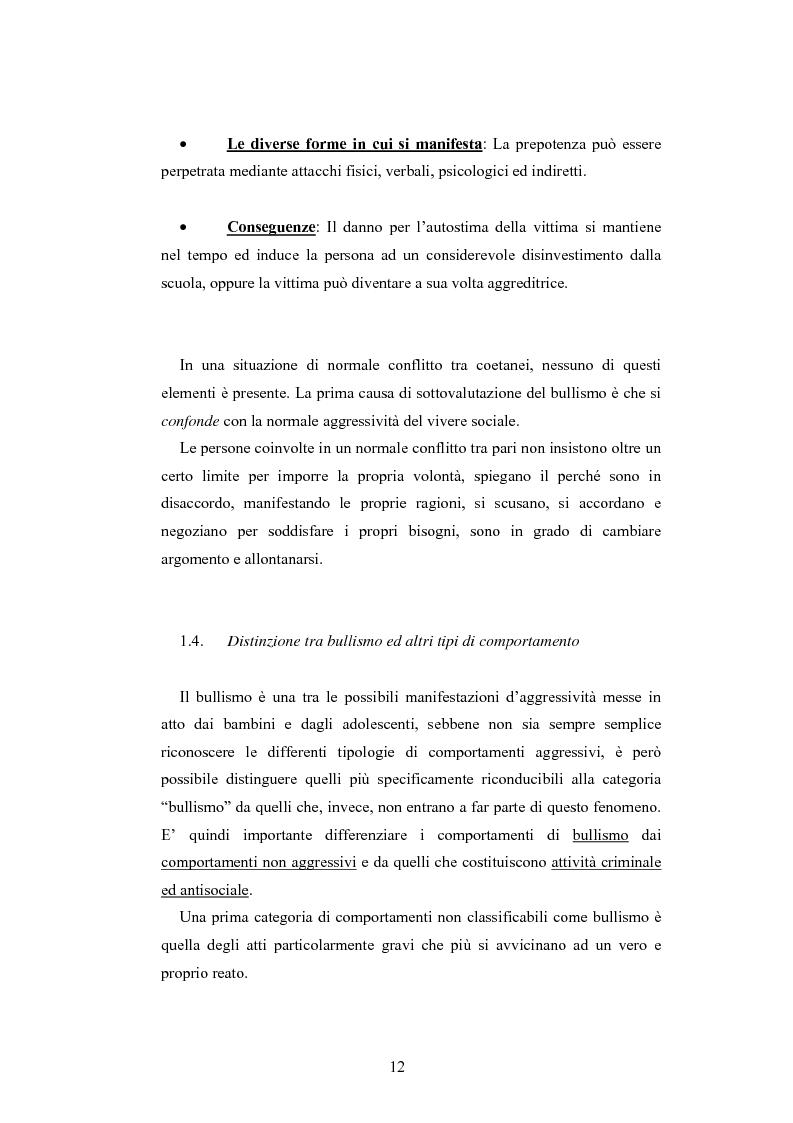 Anteprima della tesi: Bulli e vittime tra i banchi di scuola: profili, diffusione e metodologie d'intervento, Pagina 11
