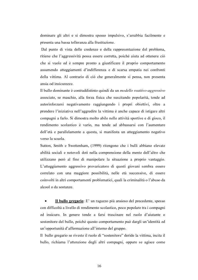Anteprima della tesi: Bulli e vittime tra i banchi di scuola: profili, diffusione e metodologie d'intervento, Pagina 15