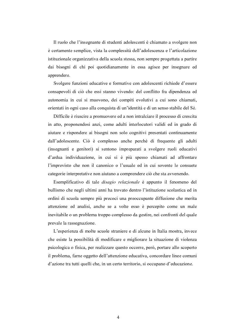 Anteprima della tesi: Bulli e vittime tra i banchi di scuola: profili, diffusione e metodologie d'intervento, Pagina 3