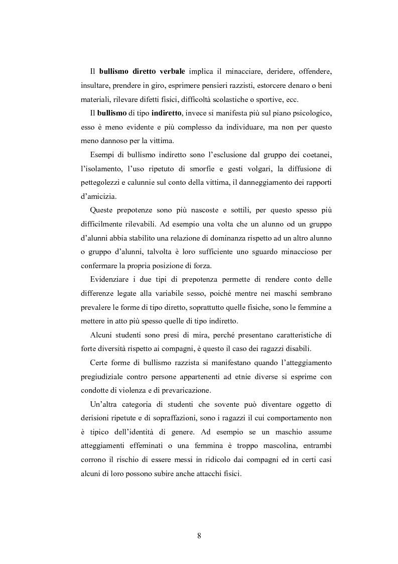 Anteprima della tesi: Bulli e vittime tra i banchi di scuola: profili, diffusione e metodologie d'intervento, Pagina 7