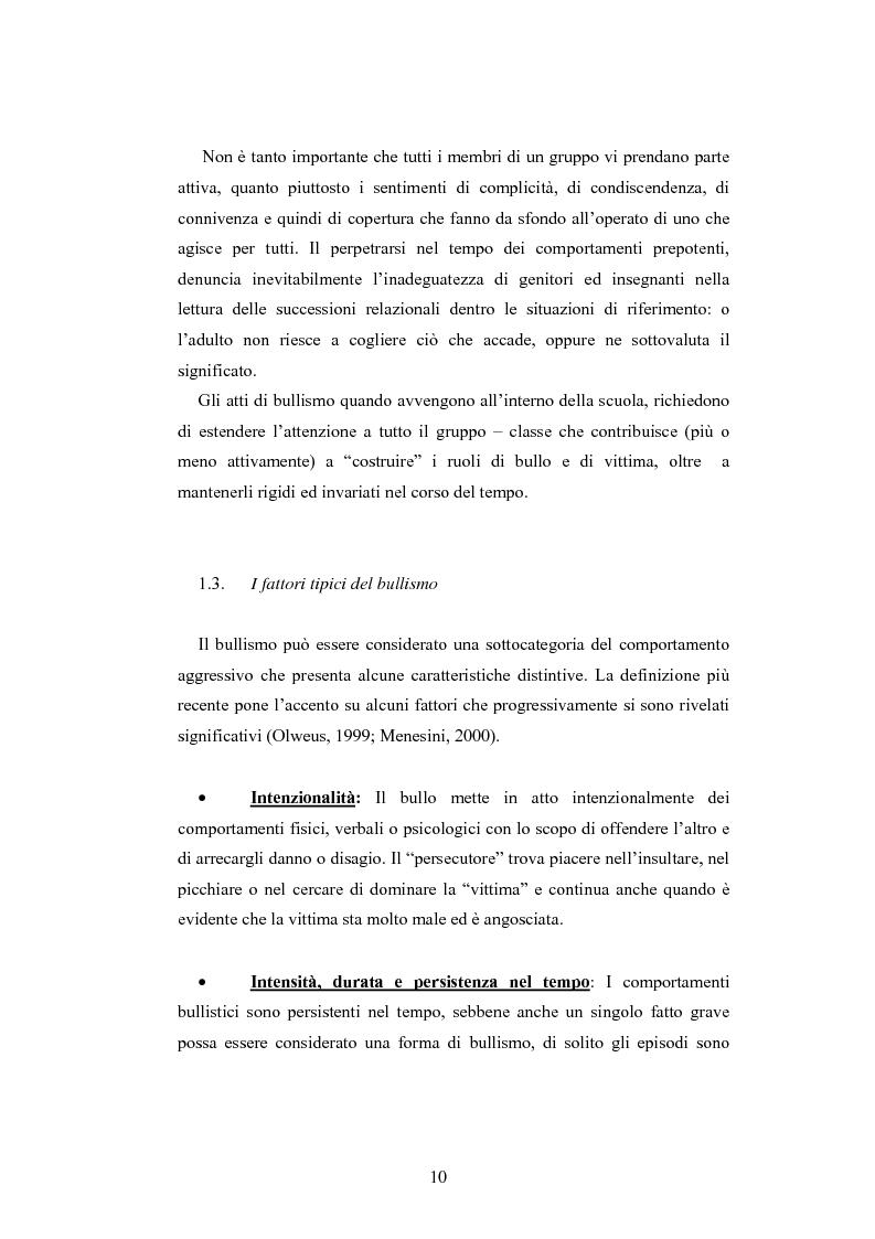 Anteprima della tesi: Bulli e vittime tra i banchi di scuola: profili, diffusione e metodologie d'intervento, Pagina 9